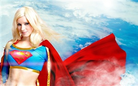 Preview wallpaper Beautiful superwoman, blonde girl