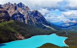 Canada nature scenery, mountain, lake, forest