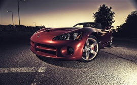 Preview wallpaper Dodge Viper red supercar at night