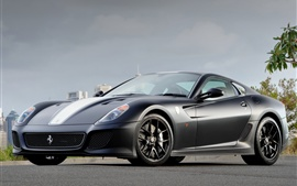 Preview wallpaper Ferrari 599 GTO gray supercar