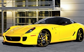 Preview wallpaper Ferrari 599 yellow supercar