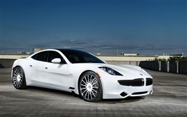 Preview wallpaper Fisker white car