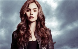 Preview wallpaper Lily Collins 03
