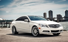 Preview wallpaper Mercedes-Benz E Class white Coupe