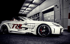 Preview wallpaper Mercedes-Benz SLR supercar at night