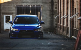 Preview wallpaper Mitsubishi blue car