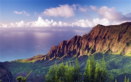 Preview wallpaper Na Pali Coast State Park sunset at Hawaii