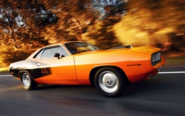 Plymouth Cuda muscle car