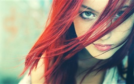 Preview wallpaper Red hair pretty girl face