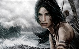 Preview wallpaper Tomb Raider, Lara Croft, storm day