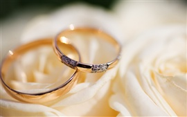 Preview wallpaper Wedding rings