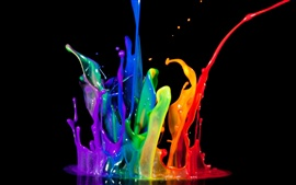 Preview wallpaper Abstractive rainbow paint splash