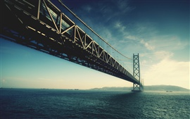 Preview wallpaper Akashi Kaikyo bridge in Japan