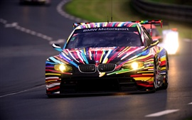 BMW M3 GT2 colorful car at night