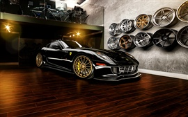 Preview wallpaper Ferrari 599 GTB supercar, wheels