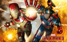 Preview wallpaper Iron Man 3, different armor