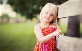 Preview wallpaper Lovely blonde little girl smile
