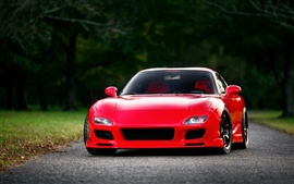 Preview wallpaper Mazda RX-7 FD red supercar front view