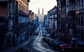 Poland, Poznan, city, cars, buildings