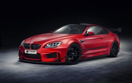Preview wallpaper Red BMW M6 car design
