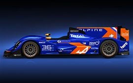 Alpine Nissan N 36 blue F1 car