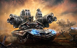Preview wallpaper Art pictures, tanks, guns, soldiers