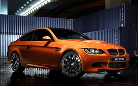 Preview wallpaper Bmw M3 E92 Coupe orange sport car, Pure Edition II