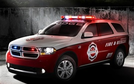 Preview wallpaper Dodge Durango fire rescue red car for 911