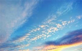 Вечерний закат небо облака