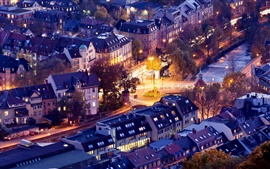 Preview wallpaper Freiburg im Breisgau, Germany, city houses, buildings, roads, evening