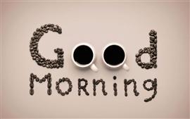 Bonjour, tasses à café et