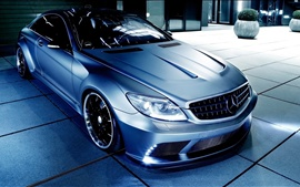 Preview wallpaper Mercedes-Benz CL63 AMG car at night