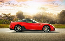 Preview wallpaper Red Ferrari 599 GTO sports car