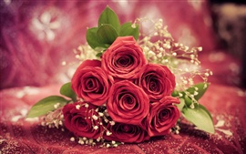 Preview wallpaper Red rose flowers gift