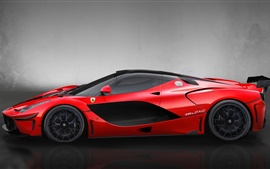 Preview wallpaper Red supercar, DMC LaFerrari FXXR side view