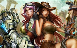 Preview wallpaper Two beautiful girls, League of Legends