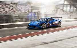 Preview wallpaper Ferrari 458 Italia blue supercar, FIA GT3