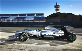 Preview wallpaper Formula 1, F1, Mercedes-Benz race car