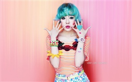 Preview wallpaper Girls Generation, Sunny, blue hair