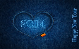 Preview wallpaper Happy New Year 2014, blue, clothes