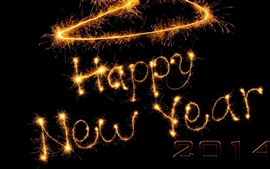 Feliz Año Nuevo 2014 de fuegos artificiales