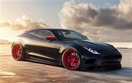 Preview wallpaper Jaguar X-C16 black concept car
