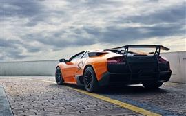 Lamborghini Murcielago LP670-4 SV supercar anaranjado