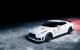 Preview wallpaper Nissan GTR 1013MM white car