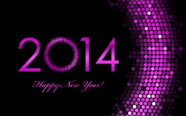 Aperçu fond d'écran Violet 2014, Happy New Year