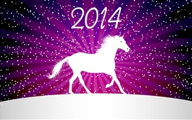 Preview wallpaper 2014 New Year, horse, winter, vector