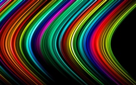 Preview wallpaper Abstract lines, stripes, rainbow, colors, light, rays