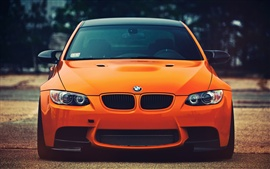 Preview wallpaper BMW M3 orange car front view