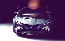 Preview wallpaper BMW concept car, art drawing
