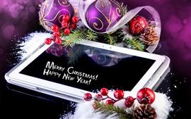 壁紙のプレビュー クリスマス、ボール、ベリー、松ぼっくり